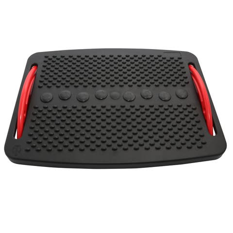 Foot Rest with Plastic Support - Black