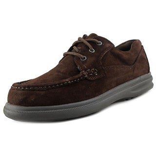 Hush Puppies Gus Men WW Round Toe Suede Brown Oxford