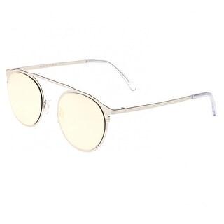 Sixty One Avalon Unisex Stainless Steel Sunglasses - 100% UVA/UVB Prorection - Polarized/Mirrored Lens - Multi