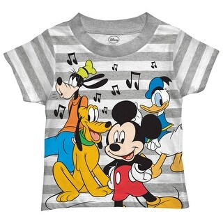 Disney Mickey Mouse Shirt Toddler Cut Off Print Mickey Goofy Pluto And Donal Duck Characters Tee