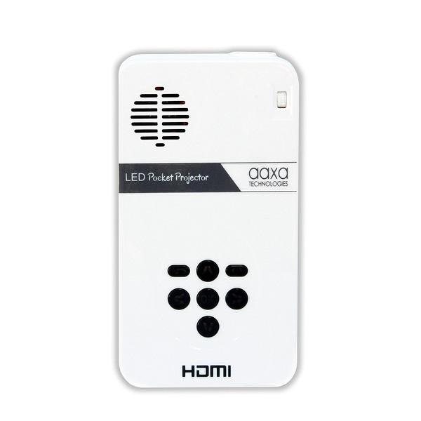 Aaxa Kp-101-01 Led Pico Micro Pocket Size Portable Video Projector W/80 Min Li-Ion Battery