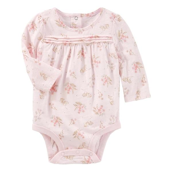 80480d73d76e3 OshKosh B'gosh Baby Girls' Floral Sparkle Bodysuit, 0-3 Months
