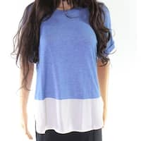 Lush Women's Colorblock High Low Mixed Media Knit Top