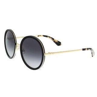 Kate Spade - Lamonica/S 02M2 Black/Gold Round Sunglasses - 54-21-140