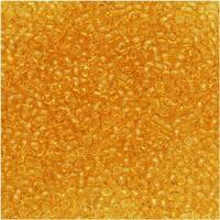 Toho Round Seed Beads 15/0 2 'Transparent Light Topaz' 8g
