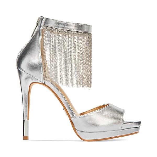 Thalia Sodi Womens Lichi Open Toe Ankle Strap Classic Pumps