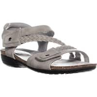 Easy Street Zone Flat Braided Sandals, Grey - 8.5 us