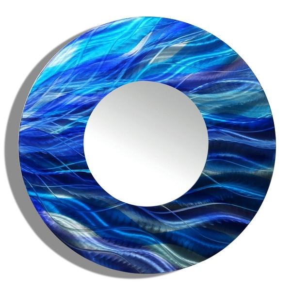 Statements2000 Blue Metal Decorative Wall-Mounted Mirror by Jon Allen - Mirror 111