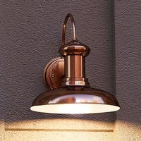 """Luxury Industrial Chic Outdoor Wall Light, 12.25""""H x 12""""W, with Nautical Style Elements, Solid Copper Finish by Urban Ambiance"""