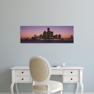 Easy Art Prints Panoramic Images's 'Detroit, Michigan, USA' Premium Canvas Art