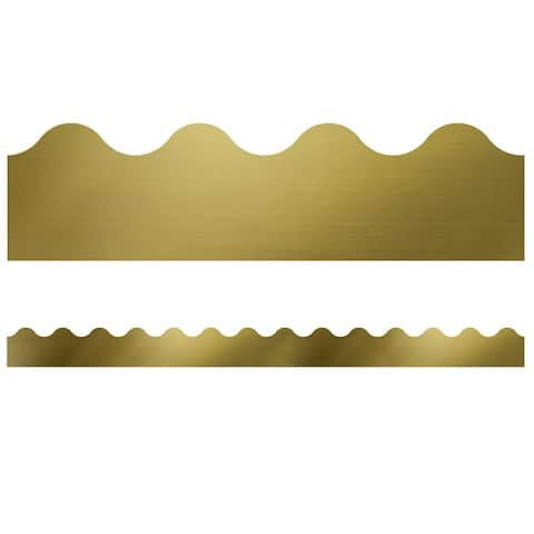 Sparkle and Shine Gold Foil Scalloped Borders - One Size