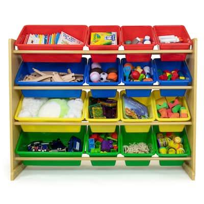 Humble Crew Super Sized Toy Storage Organizer with 16 Storage Bins - Toddler, Pre-school