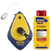 Irwin 64495 Chalk Line & Reel Comb, 4Oz., 100'