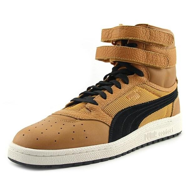 Puma Sky II Hi Color Blocked Lthr Men Round Toe Leather Brown Sneakers
