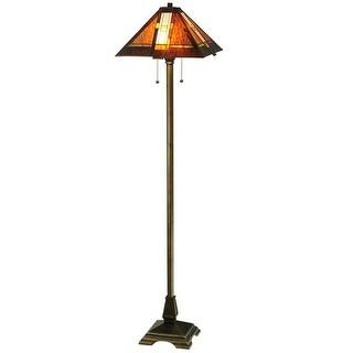 "Meyda Tiffany 118710 61"" H Montana Mission Floor Lamp - Beige"