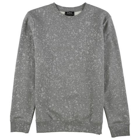A.P.C Mens Spotless Sweatshirt, grey, Medium