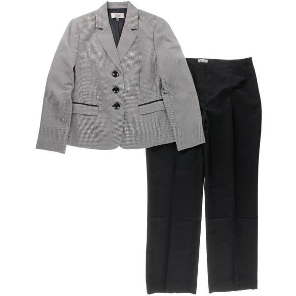 Le Suit Womens Monte Carlo Pant Suit Textured 2PC