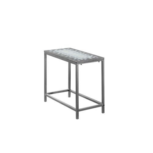 Monarch Specialties Side Table Xiv 22 Inch Tall Rectangular With Tiled Surface