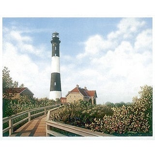 ''West Channel Lighthouse'' by Daniel Pollera Coastal Art Print (23.875 x 29.625 in.)