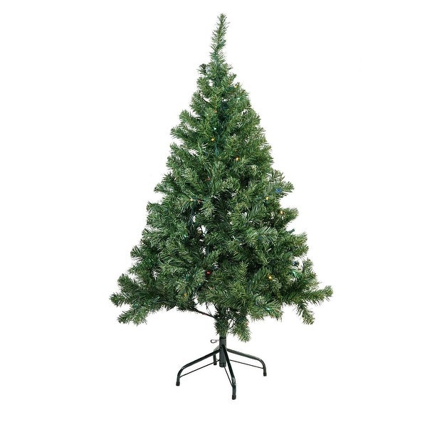 "6' x42"" Pre-Lit Mixed Classic Pine Medium Artificial Christmas Tree - Multi LED Lights"