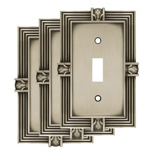 Franklin Brass W10272V-R Pineapple Single Toggle Switch Wall Plate - Pack of 3