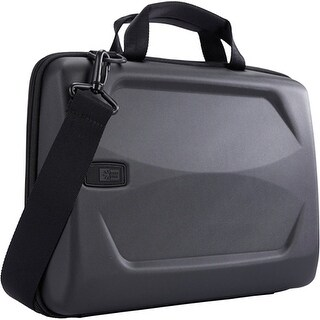 "Case Logic LHA-114BLACK Case Logic Carrying Case (Attaché) for 15" Notebook, MacBook Pro - Black - Ethylene Vinyl Acetate