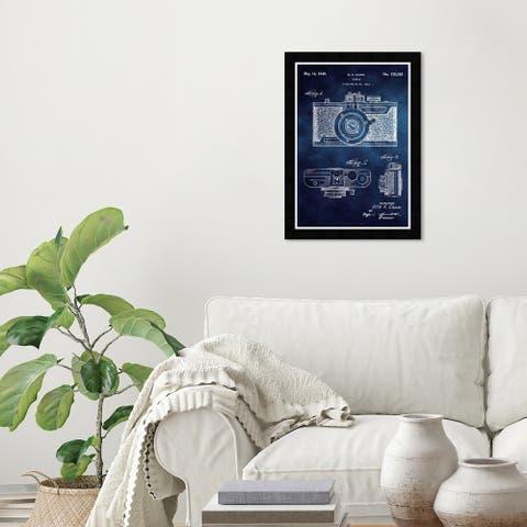 Wynwood Studio 'Cazin Design' Entertainment and Hobbies Blue Wall Art Framed Print