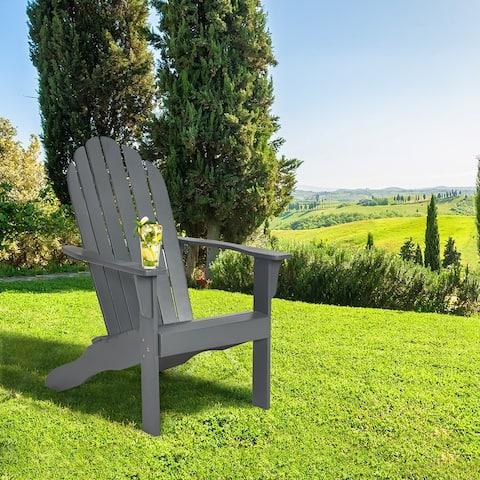 Adirondack Chair Outdoor Wooden Chair for Patio Garden Furniture