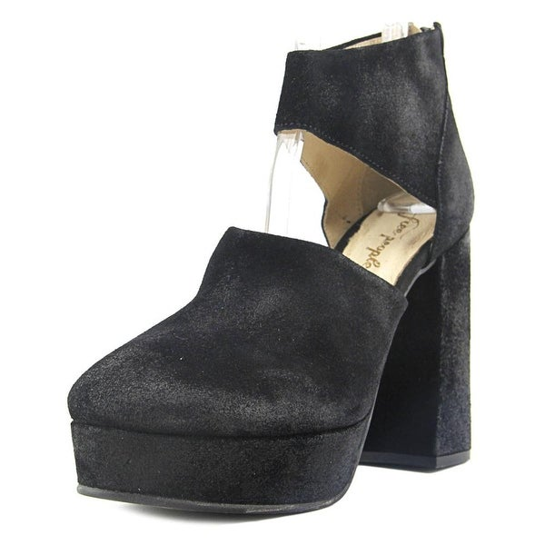 a45684d3303 Shop Free People Platform Luxor Women Open Toe Suede Black Platform ...