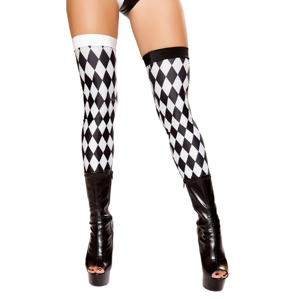 04a2571e58e Shop Diamond Jester Leggings, Black And White Thigh Highs - Black/White -  One Size Fits Most - Free Shipping On Orders Over $45 - Overstock - 18285801