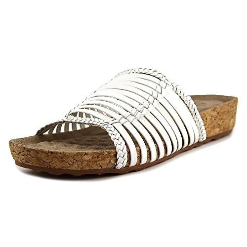 Walking Cradles Piece Women N/S Open Toe Leather Slides Sandal - white soft