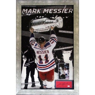 Mark Messier Framed Pop Out Collage wSigned Chit