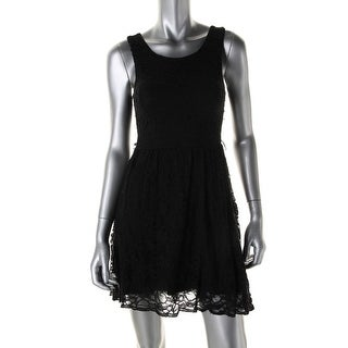 City Studio Womens Juniors Party Dress Lace Sleeveless - 9