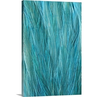 """""""Blue Feathers"""" Canvas Wall Art"""