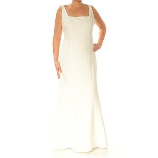 Womens Ivory Sleeveless Full-Length Mermaid Formal Dress Size: 14