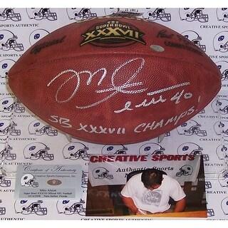 Mike Alstott Hand Super Bowl XXXVII Official NFL Football PSADNA