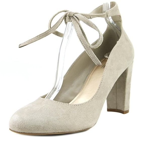 Impo Tavin Women Round Toe Suede Tan Mary Janes