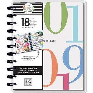 """Happy Planner 18-Month Dated Big Planner 8.25""""X11.5""""-Colorblock, Horztl, Jul 2018-Dec 2019"""