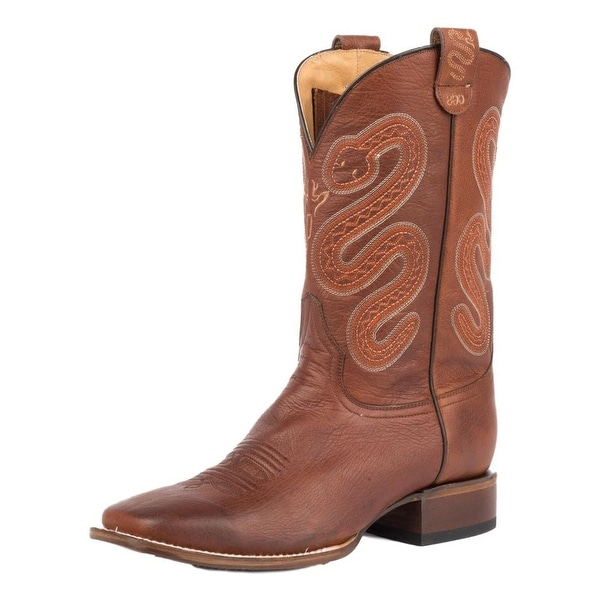 Roper Western Boots Mens Pierce Leather Brown