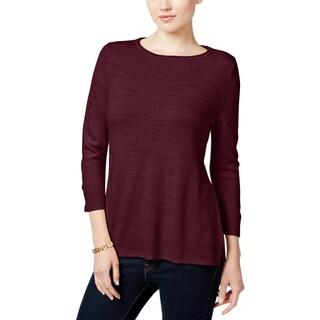 Karen Scott Womens Petites Pullover Sweater Long Sleeve Knit - pp