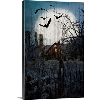 """Spook House"" Canvas Wall Art"