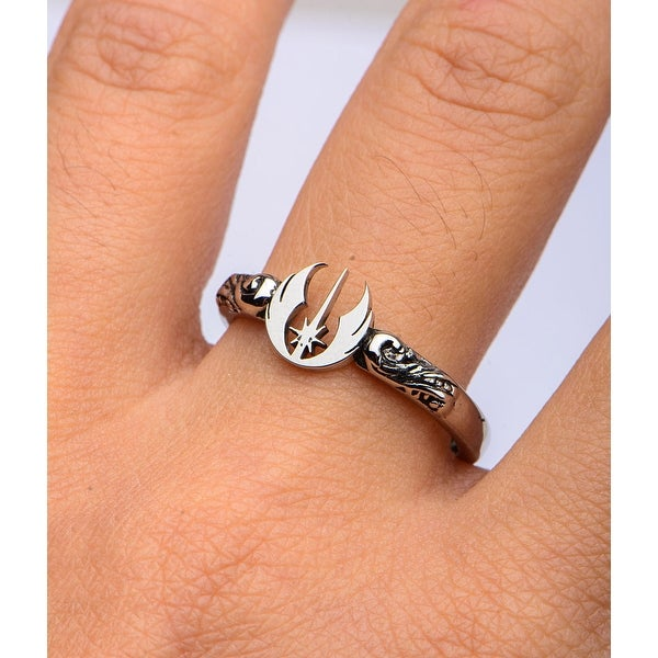 Star Wars Logo Cutout Stainless Steel Ring