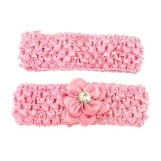 Glimmer Blossom Stretchy Headbands 2 Pack