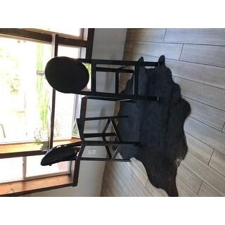 Safavieh Handpicked Hacienda Argentinian Brown Black Cowhide Leather Rug - 4' X 6'
