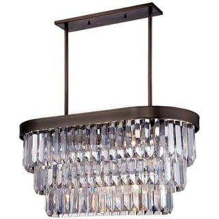 """Savoy House 1-9807-4 Tierney 4 Light 32"""" Wide 2 Tier Chandelier with Crystal Accents"""