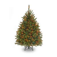 4.5 ft. Dunhill(R) Fir Tree with Multicolor Lights - green