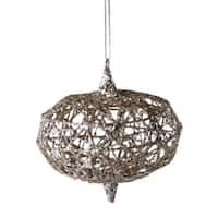 4 in. Urban Nature Gold Wire with Silver Glitter Onion Christmas