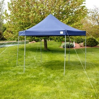 Sunnydaze Quick-Up 12-Foot Instant Hexagon Canopy Gazebo with Rolling Bag - Blue