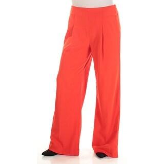 Womens Orange Wear To Work Wide Leg Pants Size 10