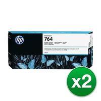 Hewlett Packard 764 300ml Photo Black DesignJet Ink Cartridge C1Q17A (2-Pack) Photo Black DesignJet
